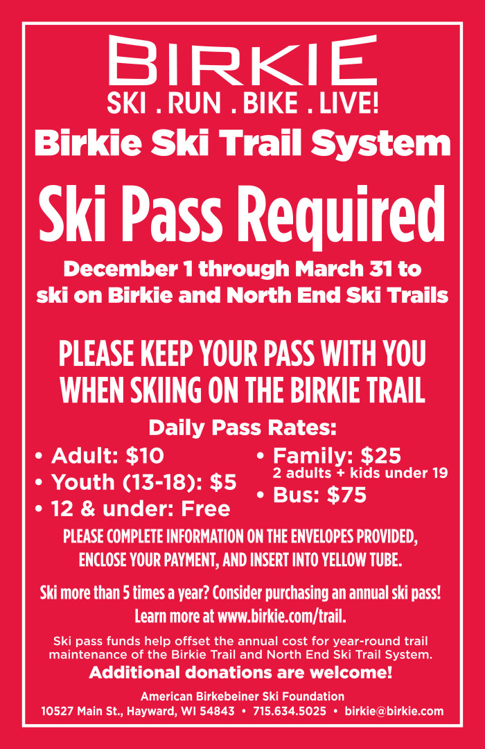 ski trail pass sign 14