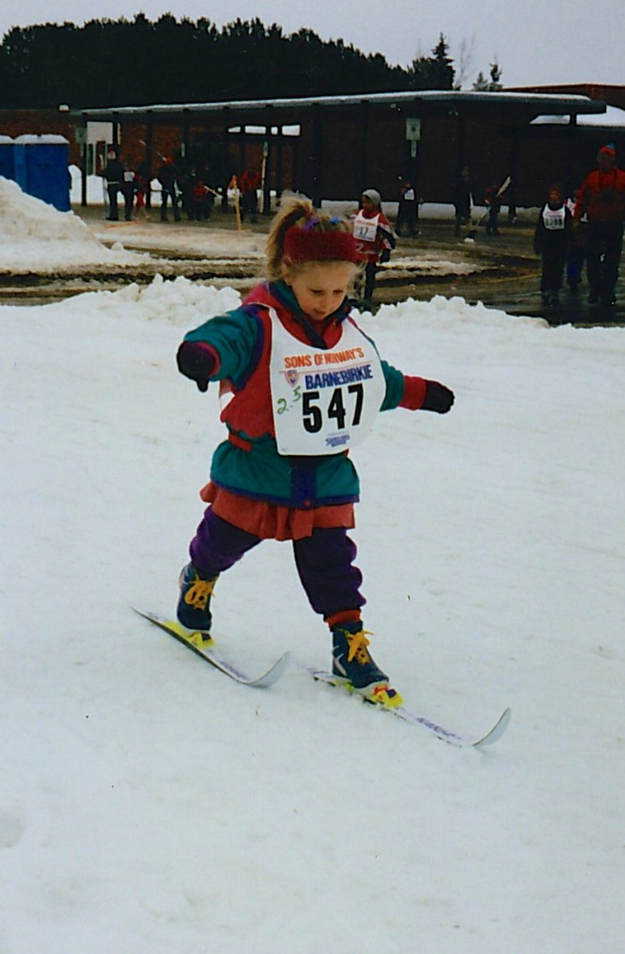 Competing (or rather just participating) in my first Birkie event: The Barnebirkie!