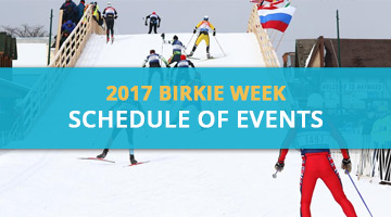2017 Birkie Week Schedule of Events