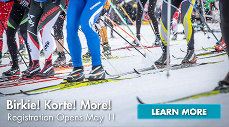 Birkie! Korte! More! Registration Opens May 1!