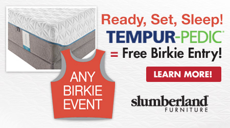 Ready, Set, Sleep! Tempur-Pedic = Free Birkie Entry!