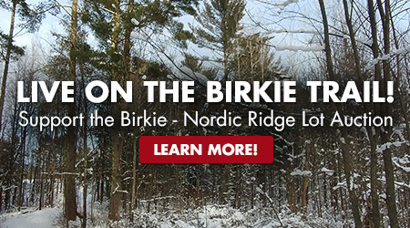Live on the Birkie Trail! Support the Birkie - Nordic Ridge Lot Auction! Learn More!