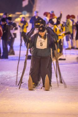 2019 Birkie Giant Ski Race – February 21st – Six People on One Pair of Skis!