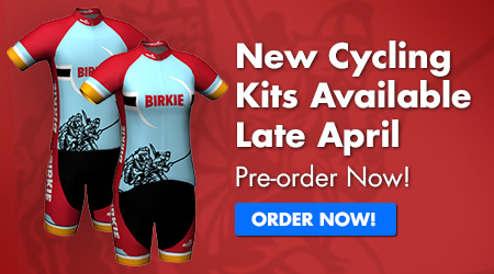 New Cycling kits available late April, pre-order now!