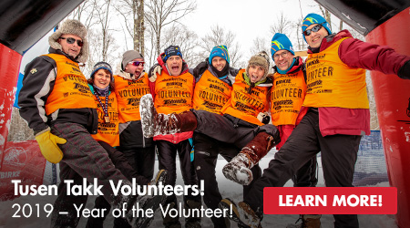 2019 - Year of the Volunteer! Tusen Takk Volunteers! Learn More!