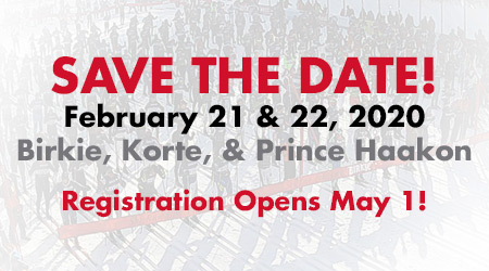 Save the Date! Birkie, Korte, Prince Haakon - Registration Opens May 1, 2019