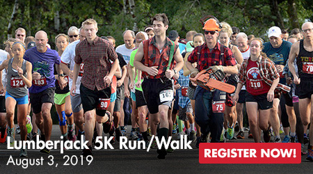 Lumberjack 5K Run/Walk - August 3, 2019 - Register Now!