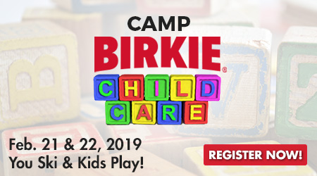 Camp Birkie for Kids - Feb. 21 & 22, 2019 - You Ski and Kids Play! Register Now!