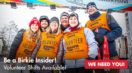 Be A Birkie Insider! Volunteer Now!