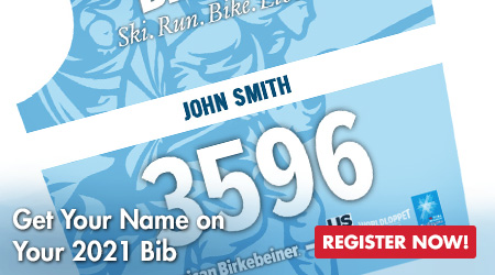 Get Your Name on Your 2021 Bib - Register Now!