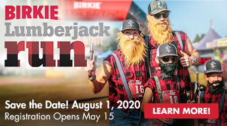 Lumberjack Run - Save the Date! August 1, 2020 - Registration Opens May 15