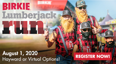 Lumberjack Run - August 1, 2020 - Hayward and Virtual Options - Register Now!