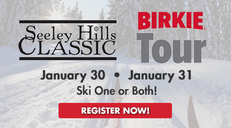 Seeley Hill Classic and Birkie Tour Combo - January 30 * January 31 - Ski One or Both! Register Now!
